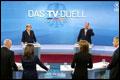 Geen duidelijke winnaar tv-duel Merkel-Steinbrück