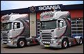 Twee Scania V8 trekkers voor Givar Scherpenzeel