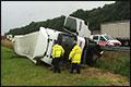 Vrachtwagen gekanteld langs A28 [+foto's]