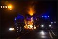 Vrachtwagen op A73 in brand gevlogen [+foto]