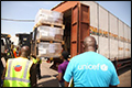 Vrachtvliegtuig met 100 ton hulpgoederen in strijd tegen ebola [+foto's]