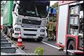 Vrachtwagen lekt diesel na ongeval A20 [+foto]