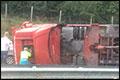 Vrachtwagen gekanteld op A4 [+foto]