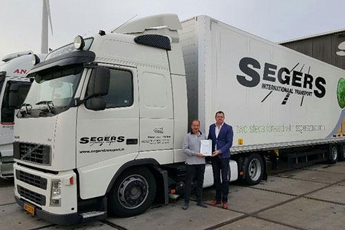 Keurmerk Transport & Logistiek voor Marcel Segers B.V. uit Hazeldonk
