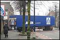 Aldi vrachtwagen met pech blokkeert straat in Boekel [+foto]