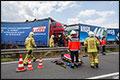 Ernstig ongeval met vier vrachtwagens op Duitse A2 [+foto's]