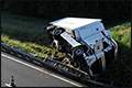 Vrachtwagen gekanteld op A6 bij Almere [+foto]