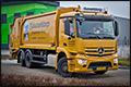 Vier Mercedes-Benz Antos trucks in verschillende uitvoeringen voor de Dusseldorp Groep