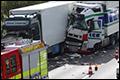 Update: Ernstig ongeval met vrachtwagens op Duitse A2 zorgt voor lange files [+foto's]