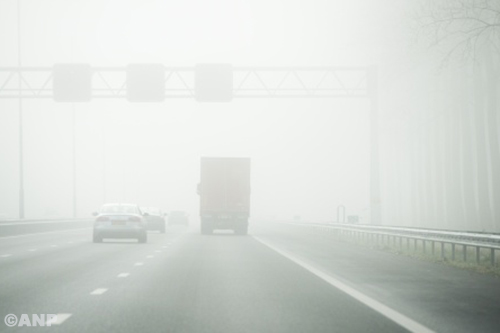 Zware ochtendspits verwacht wegens mist