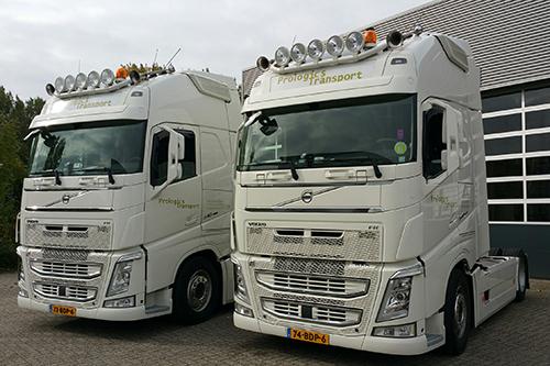 Twee nieuwe Volvo FH 540 XL voor Prologics Transport