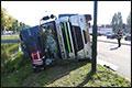 Vrachtwagen gekanteld in Son en Breugel [+foto]