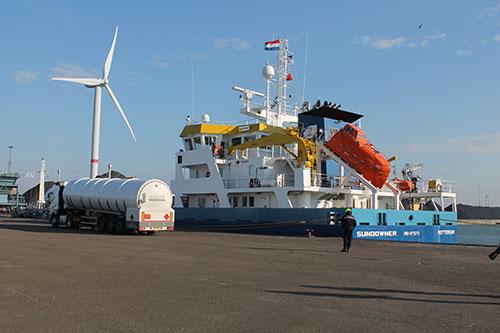 Pilot LNG bunkeren in Vlissingse haven