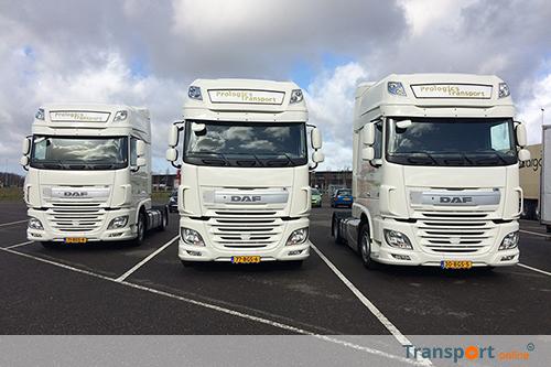 Drie nieuwe DAF low deck trekkers voor Prologics Transport