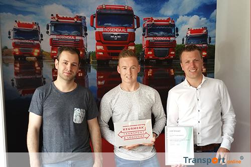Keurmerk Transport & Logistiek voor Rosendaal Transport uit Beek
