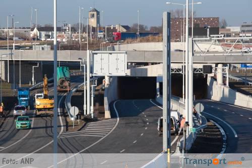 Koning Willem-Alexandertunnel in Maastricht vanaf vrijdag in gebruik