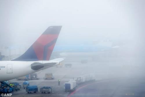 Weer hinder vliegverkeer door mist