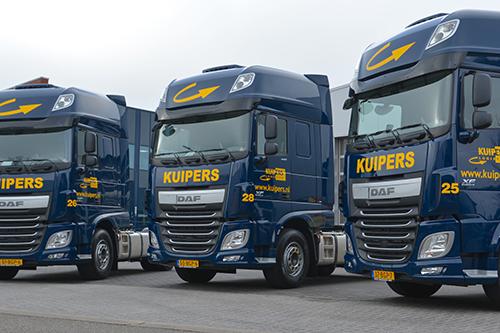 Drie nieuwe Daf FT XF voor Kuipers Logistics