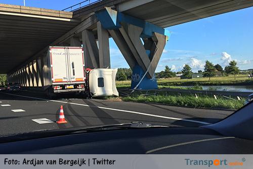 Zeer ernstig ongeval op A15 [+foto's]