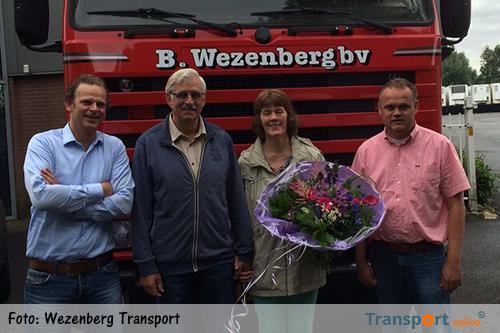 Tjalling Dijkstra, chauffeur bij Wezenberg Transport met pensioen