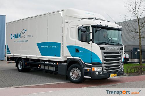 Scania G410 bakwagen voor Chain Logistics