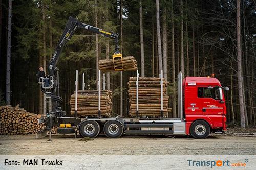 MAN presenteert trucks voor houtindustrie en bosbouw op de KWF-Expo 2016