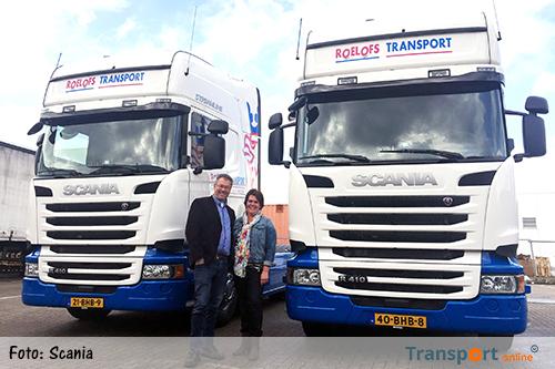 Vier nieuwe Scania R410 Topline trekkers voor Roelofs Transport