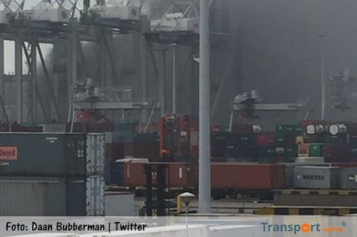 APM terminal hervat operaties na brand in mengsilo bij GDF Suez [+foto's]
