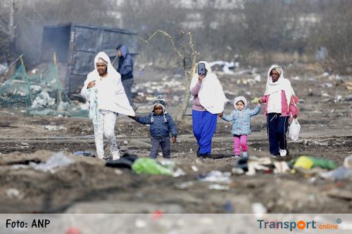 Gewonden na gevechten in 'jungle' Calais