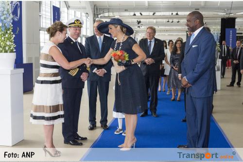Máxima heeft cruiseschip de Koningsdam gedoopt [+foto's]