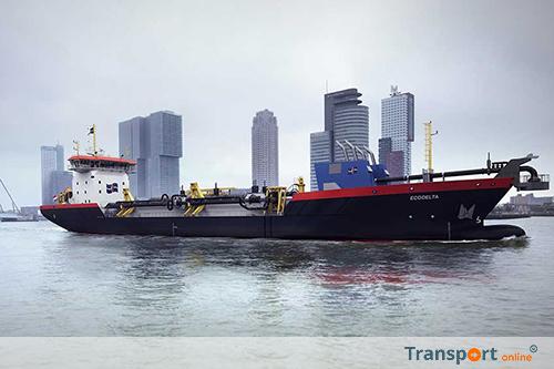 Nieuw LNG-aangedreven baggerschip voor Rotterdamse haven