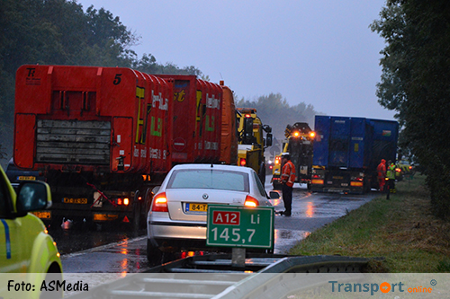 Lange files door ongeval met vrachtwagens op A12 [+foto&video]