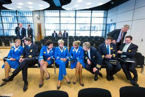 Cabinepersoneel KLM hervat acties