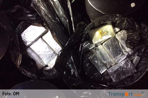 200 kilo cocaïne gevonden in container met ijzeren vaten