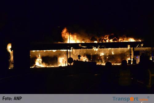 A12 weer helemaal vrij na brand tankstation 'De Andel'
