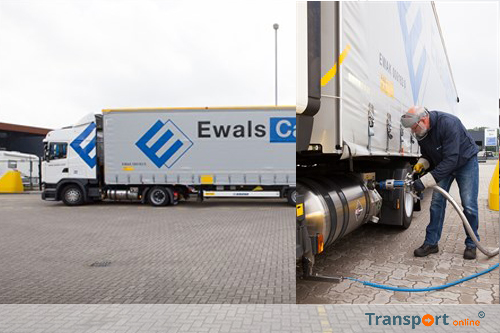 Ewals Cargo Care test LNG met lowdeck trucks