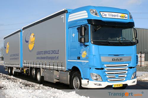 Twee nieuwe DAF XF bakwagens voor De Weerd Transport