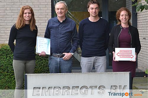 Keurmerk Transport & Logistiek voor Embregts Autodiensten uit Etten-Leur
