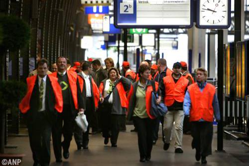 Woensdag werkoverleg boze NS'ers in Utrecht