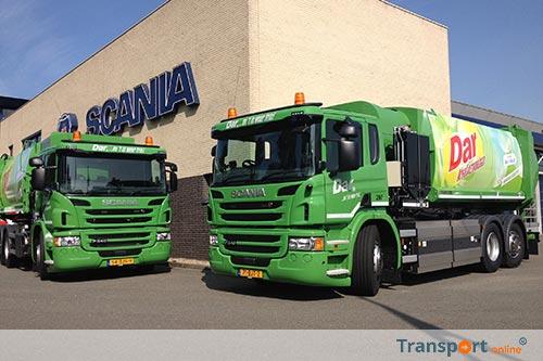 Dar houdt het schoon met Scania's op CNG
