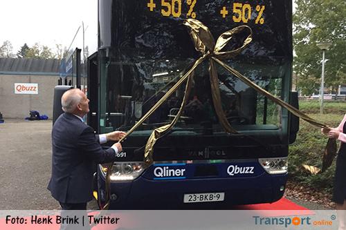 Qbuzz zet eerste dubbeldekker bus in tussen Emmen en Groningen