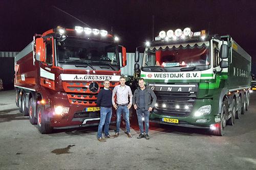 Van Grunsven Transport neemt onderdeel kipper transport van Westdijk over