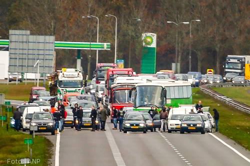 Inzamelingsactie gestart voor snelwegblokkeerders A7 bij Joure