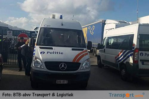 Belgische politie neemt 112 Slowaakse trekkers in beslag bij Belgische North Sea Express