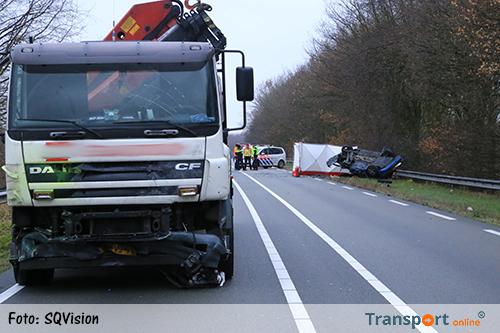 Dode na aanrijding met vrachtwagen op N279 [+foto]