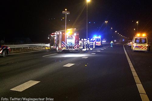 A73 bij Malden enige tijd dicht na ongeluk