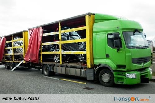 Vrachtwagen mag na gebrekkige ladingzekering niet verder rijden [+foto]