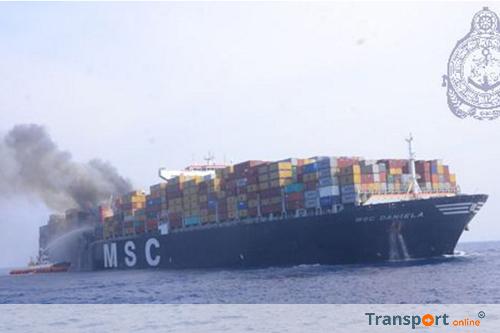 Brand aan boord van containerschip de 'MSC DANIELA' in de Indische Oceaan [UPDATE+foto's]