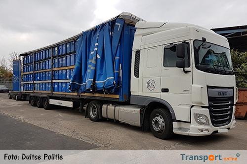 Veel te hoge Spaanse vrachtwagen van de weg gehaald in Duitsland [+foto's]