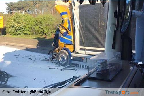 Ernstige aanrijding tussen twee vrachtwagens op Belgische E19 [+foto's]